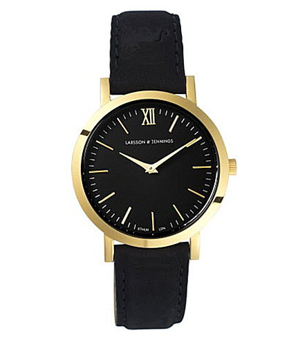 LARSSON & JENNINGS Liten Black gold-plated watch (Black