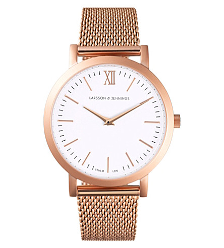 LARSSON & JENNINGS LJ-W-LIT-RSGLD Lugano rose-gold plated stainless steel watch
