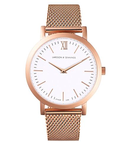 LARSSON & JENNINGS LJ-W-RSGLD 卢加诺玫瑰-镀金不锈钢手表