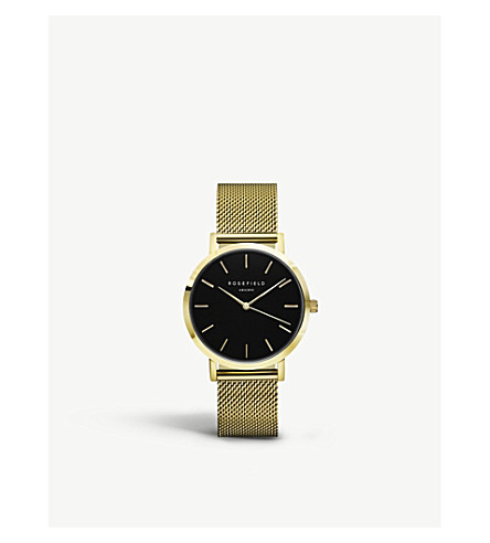 ROSEFIELD MBG-M46 Mercer PVD gold-plated watch