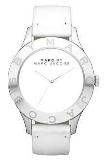 MARC BY MARC JACOBS MBM1200 Blade stainless steel and leather watch