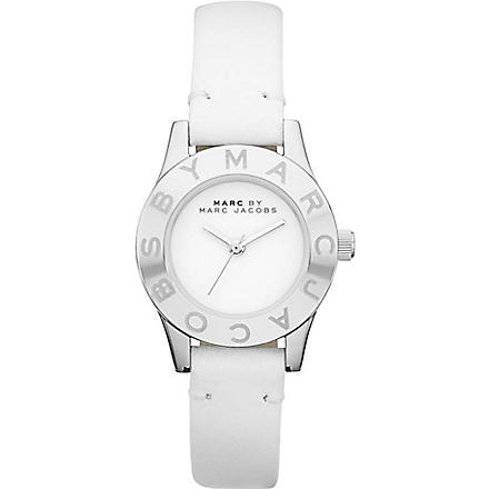 MARC BY MARC JACOBS MBM1206 Blade stainless steel and leather watch (White