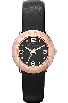 MARC BY MARC JACOBS MBM1227 rose gold-toned leather watch
