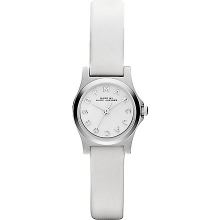 MARC BY MARC JACOBS MBM1234 Henry Dinky mini white leather watch 2.1cm (White