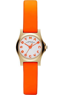 MARC BY MARC JACOBS MBM1236 Dinky Henry PVD gold-plated and rubber watch