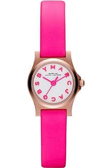 MARC BY MARC JACOBS MBM1237 rose gold and leather watch