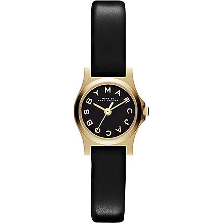 MARC BY MARC JACOBS MBM1240 gold-toned leather watch (Black