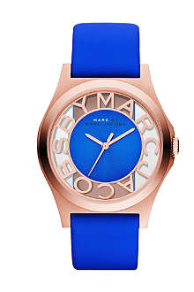 MARC BY MARC JACOBS MBM1244 rose gold and leather watch