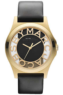 MARC BY MARC JACOBS MBM1246 Henry stainless steel and leather watch