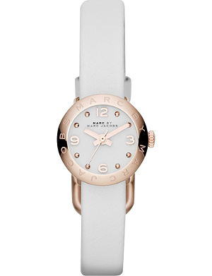 MARC BY MARC JACOBS MBM1250 rose gold-toned leather watch