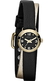 MARC BY MARC JACOBS MBM1257 Amy gold-toned leather watch