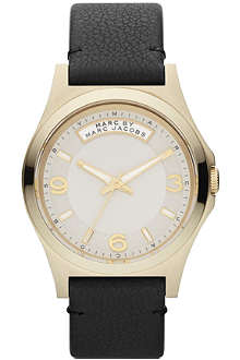 MARC BY MARC JACOBS MBM1264 Baby Dave gold-toned leather watch