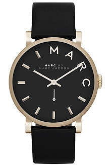 MARC BY MARC JACOBS MBM1269 Baker stainless steel and leather watch