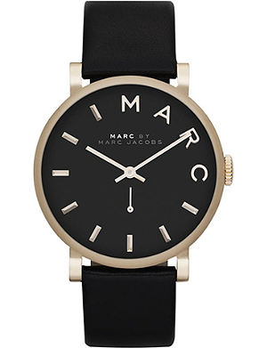 MARC BY MARC JACOBS MBM1269 Baker yellow gold-plated and leather watch
