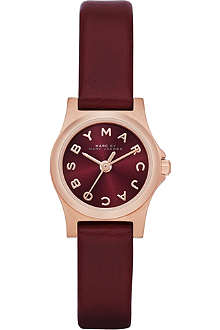 MARC BY MARC JACOBS MBM1281 Dinky Henry PVD rose gold-plated and rubber watch