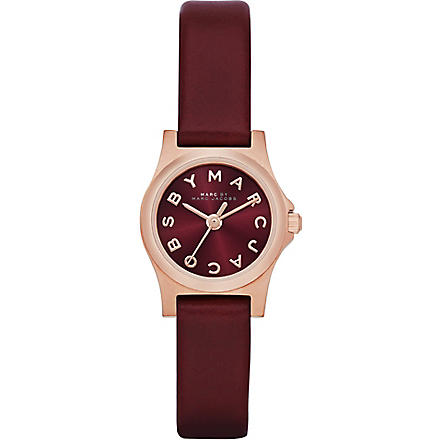 MARC BY MARC JACOBS MBM1281 Dinky Henry PVD rose gold-plated and rubber watch (Red