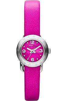 MARC BY MARC JACOBS MBM1288 Amy silver-toned leather watch