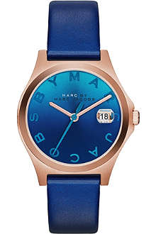 MARC BY MARC JACOBS MBM1324 The Slim rose gold-toned PVD and leather watch
