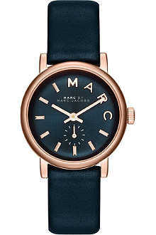 MARC BY MARC JACOBS MBM1331 Baker rose-gold toned PVD and leather watch