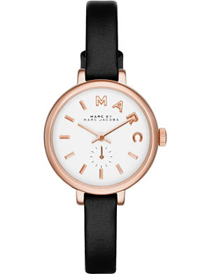 MARC BY MARC JACOBS mbm1352 Sally rose gold-plated and leather watch