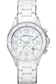 MARC BY MARC JACOBS MBM2545 Rock Chrono stainless steel and rubber watch