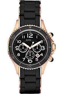 MARC BY MARC JACOBS MBM2553 Marine Rock rose gold and silicone chronograph watch