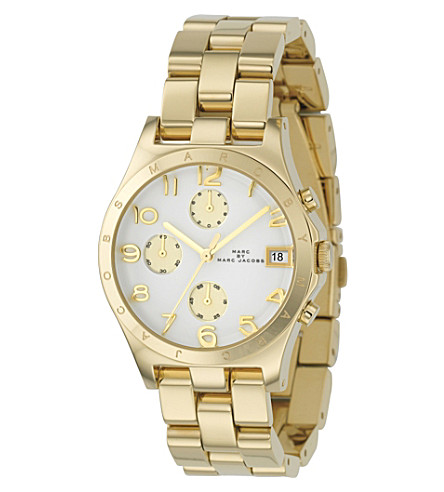 MARC JACOBS MBM3039 Gold-plated chronograph watch (Gold