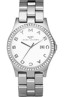MARC BY MARC JACOBS MBM3044 crystal bezel silver watch