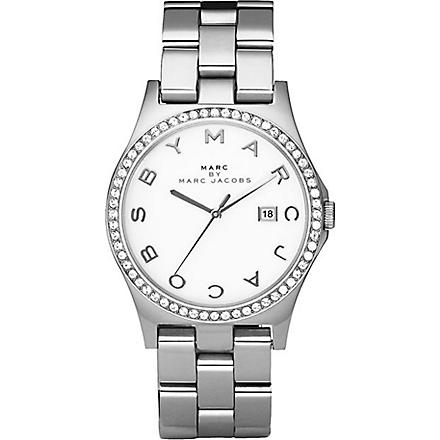 MARC BY MARC JACOBS MBM3044 crystal bezel silver watch (Silver