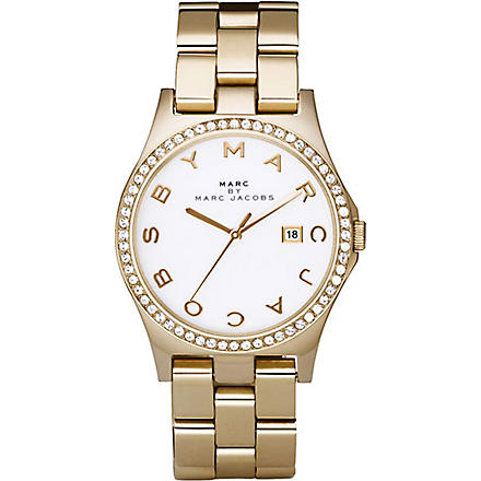 MARC BY MARC JACOBS MBM3045 gold-plated watch (White