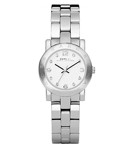 MARC JACOBS MBM3055 Mini Amy stainless steel watch (White