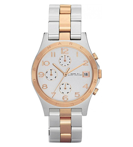 MARC BY MARC JACOBS mbm3070 stainless steel and rose gold plated watch (Silver