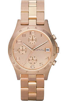 MARC BY MARC JACOBS Rose gold chronograph watch