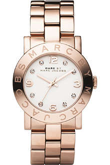 MARC BY MARC JACOBS MBM3077 Amy rose gold-plated watch