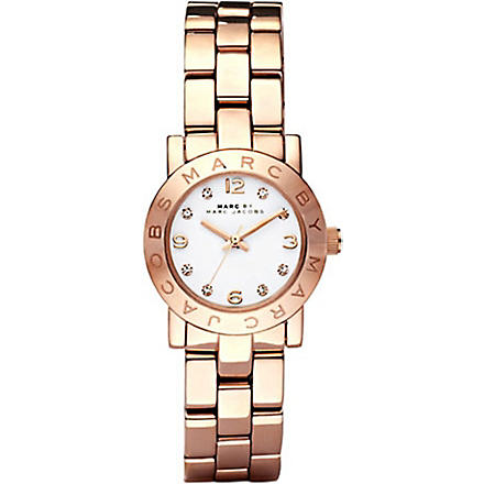 MARC BY MARC JACOBS MBM3078 Mini Amy rose gold-plated watch (White