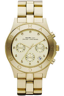 MARC BY MARC JACOBS Blade gold chronograph ladies' watch