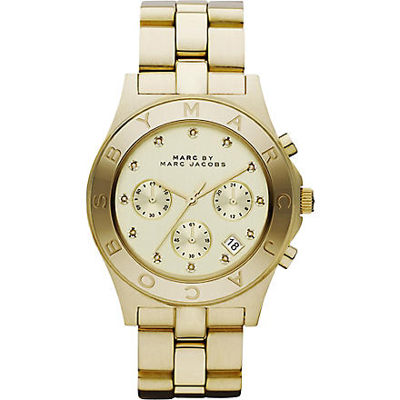 MARC BY MARC JACOBS Blade gold chronograph ladies' watch (Gold