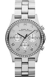 MARC BY MARC JACOBS Henry glitz silver-toned watch