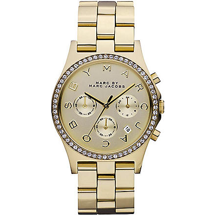 MARC BY MARC JACOBS Henry glitz gold watch (Gold