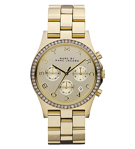 MARC JACOBS Henry glitz gold watch (Gold