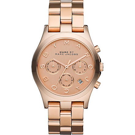 MARC BY MARC JACOBS MBM3107 rose gold-plated watch (Gold