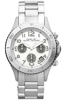 MARC BY MARC JACOBS MBM3155 Rock Chrono steel watch