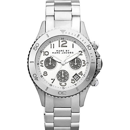 MARC BY MARC JACOBS MBM3155 Rock Chrono steel watch (Silver