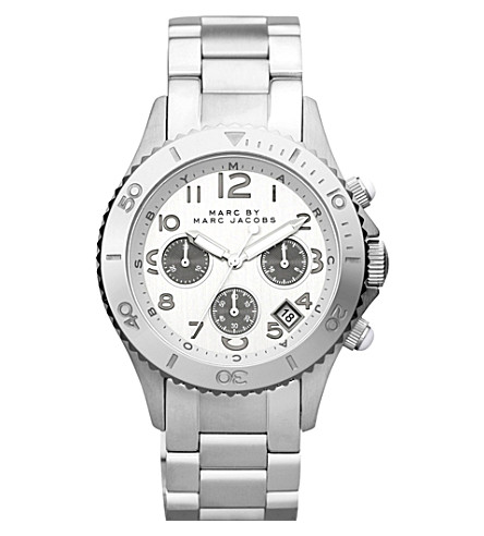MARC JACOBS MBM3155 Rock Chrono steel watch (Silver