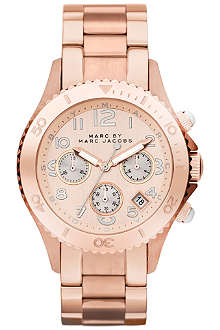 MARC BY MARC JACOBS MBM3156 Rock Chrono rose gold-plated watch