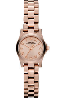 MARC BY MARC JACOBS MBM3200 Henry Dinky mini rose gold-toned watch