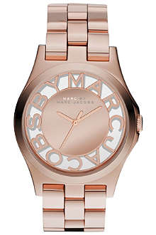 MARC BY MARC JACOBS MBM3207 Henry rose gold-toned stainless steel watch