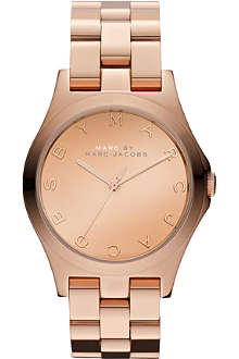 MARC BY MARC JACOBS MBM3212 Henry rose gold-toned stainless steel watch