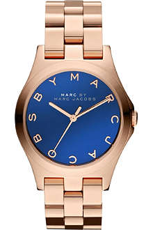 MARC BY MARC JACOBS MBM3213 Henry Glossy rose-gold plated stainless steel watch