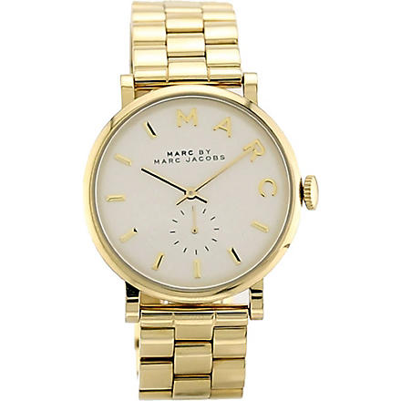 MARC BY MARC JACOBS MBM3243 Baker gold-toned stainless steel watch (White